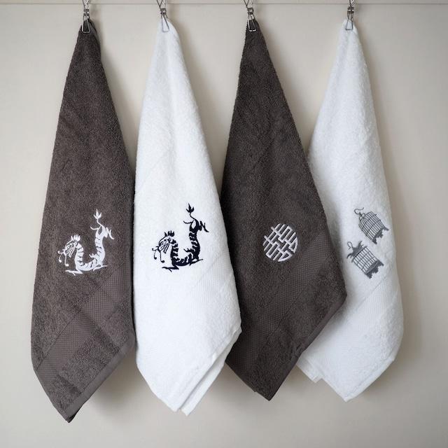 『刺繍のタオル/Lサイズ』Zest of ASIA/香港