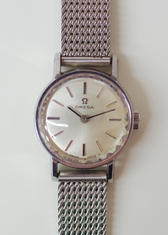 OMEGA オメガ オートマチック SS シルバー 腕時計 レディース