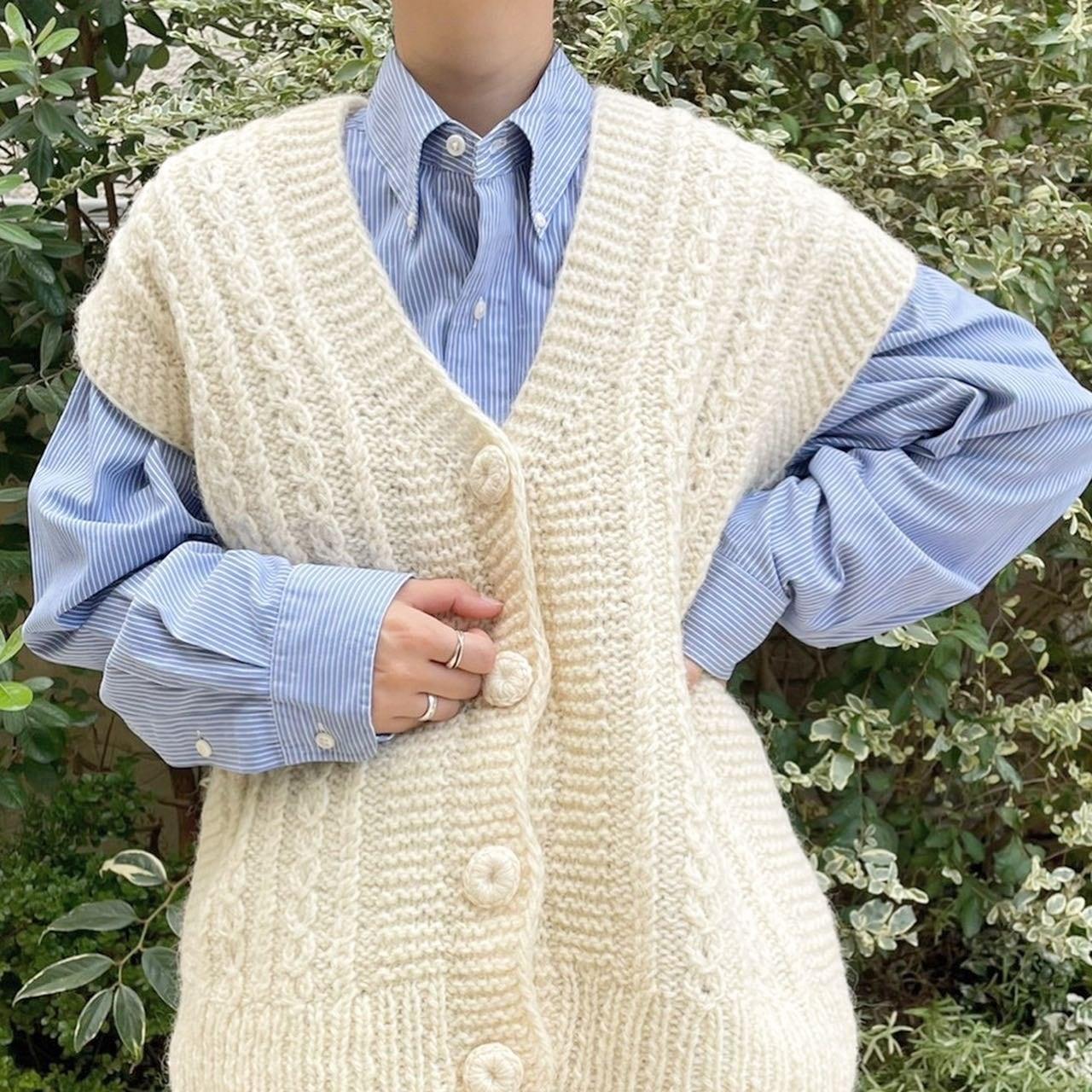 "USED "" knit vest / ニットベスト """