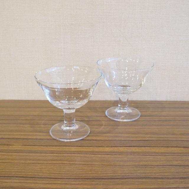 シンプルなデザートグラス2個セット
