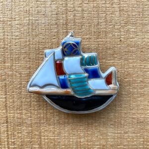 帆船(帯留・ブローチ)