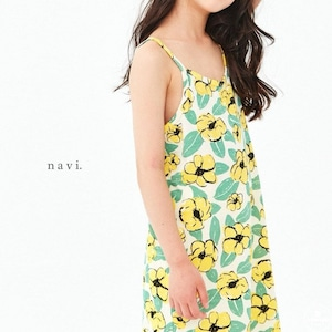 «sold out» flower one piece 2colors フラワーキャミワンピース