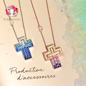 cross necklace / silver 925