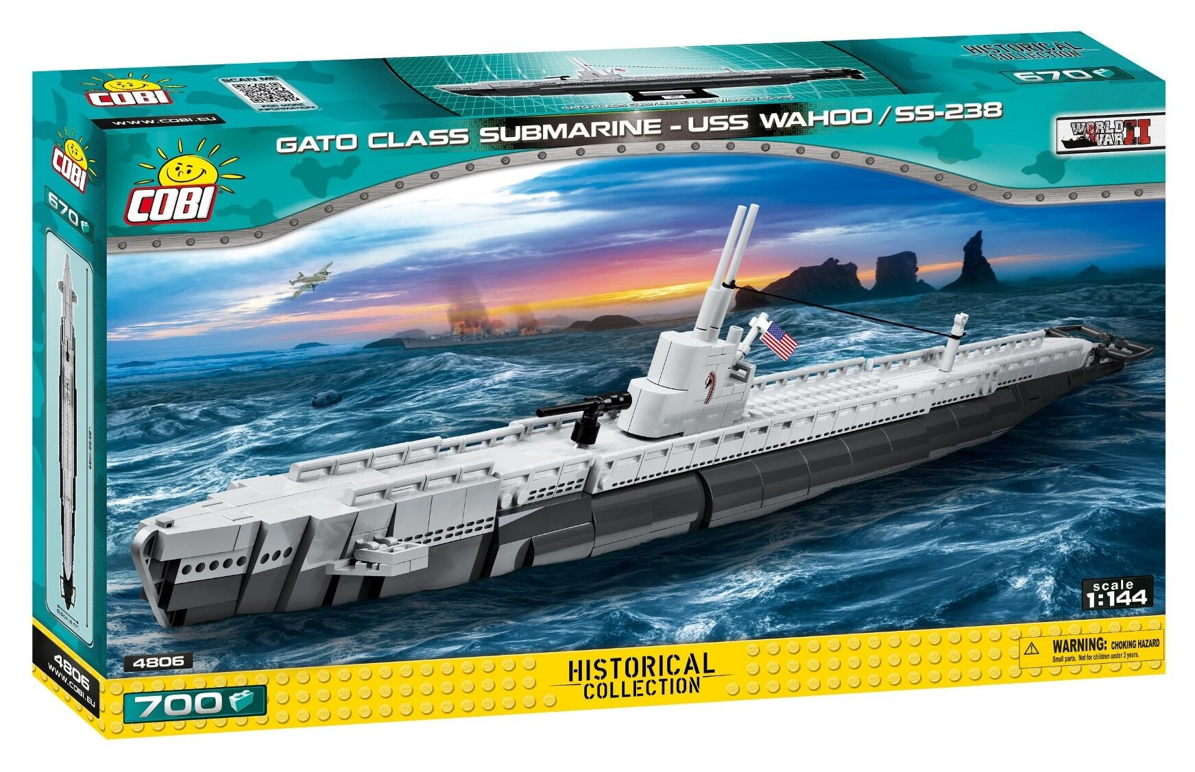 COBI #4806 ワフー  USS Wahoo SS-238