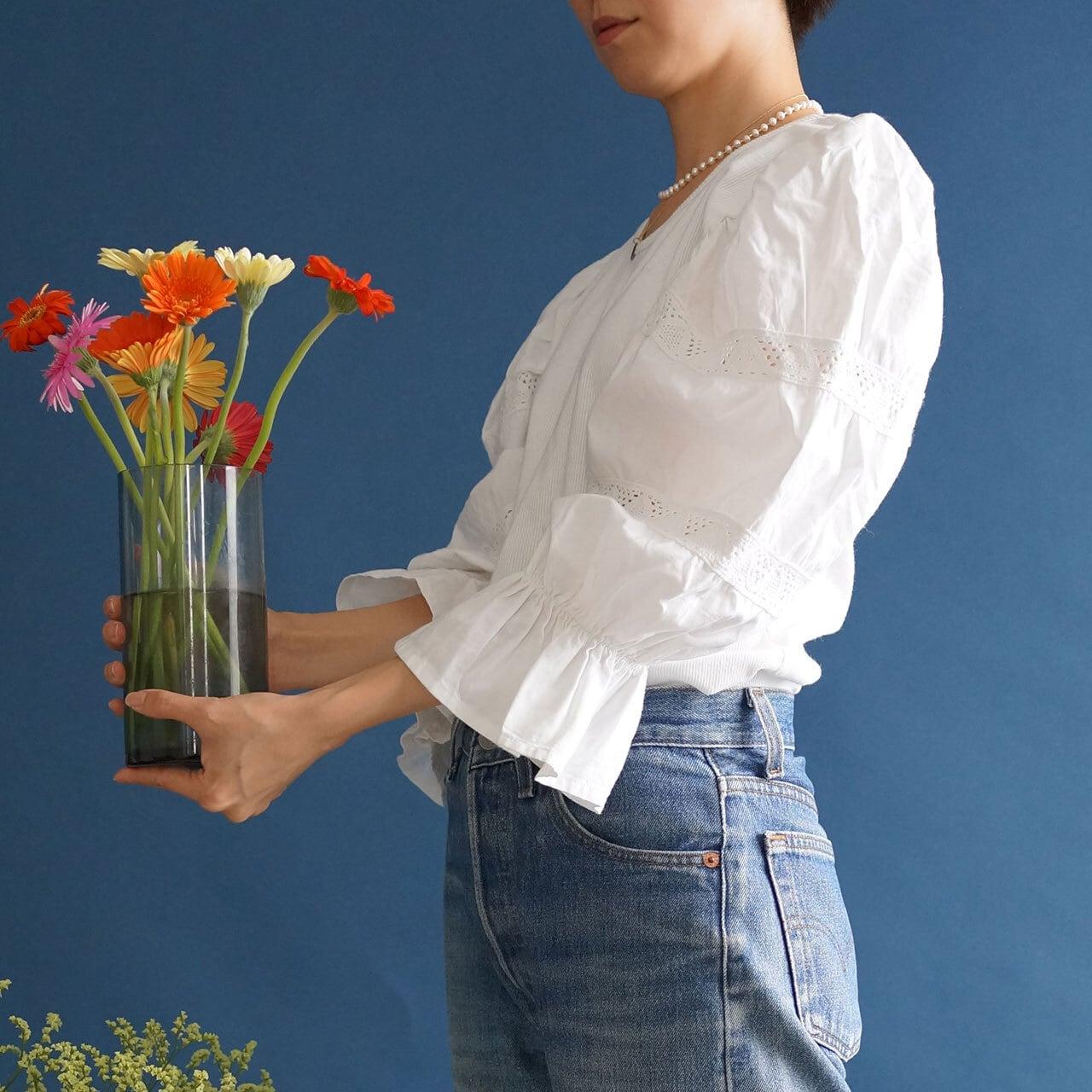 【送料無料】 Vintage puffy sleeves Austrian blouse