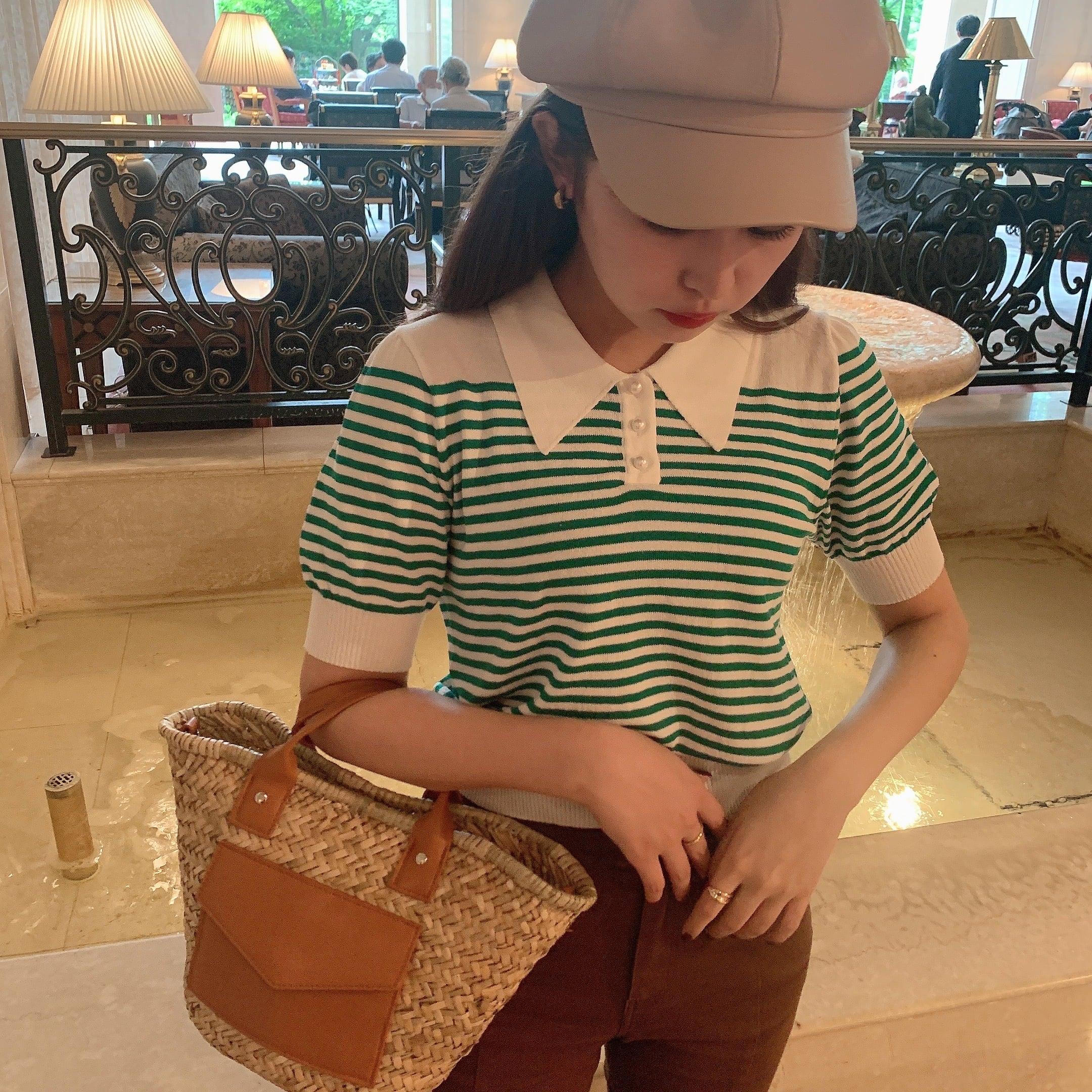 fake leather pocket rattan bag