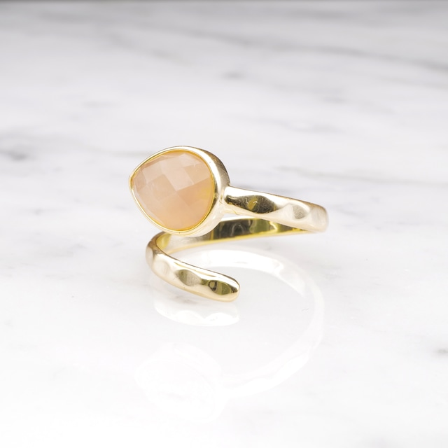 SINGLE STONE OPEN RING GOLD 026