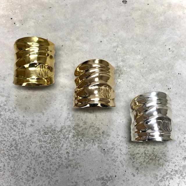 【MR-2BR】Like a wave wide free size ring