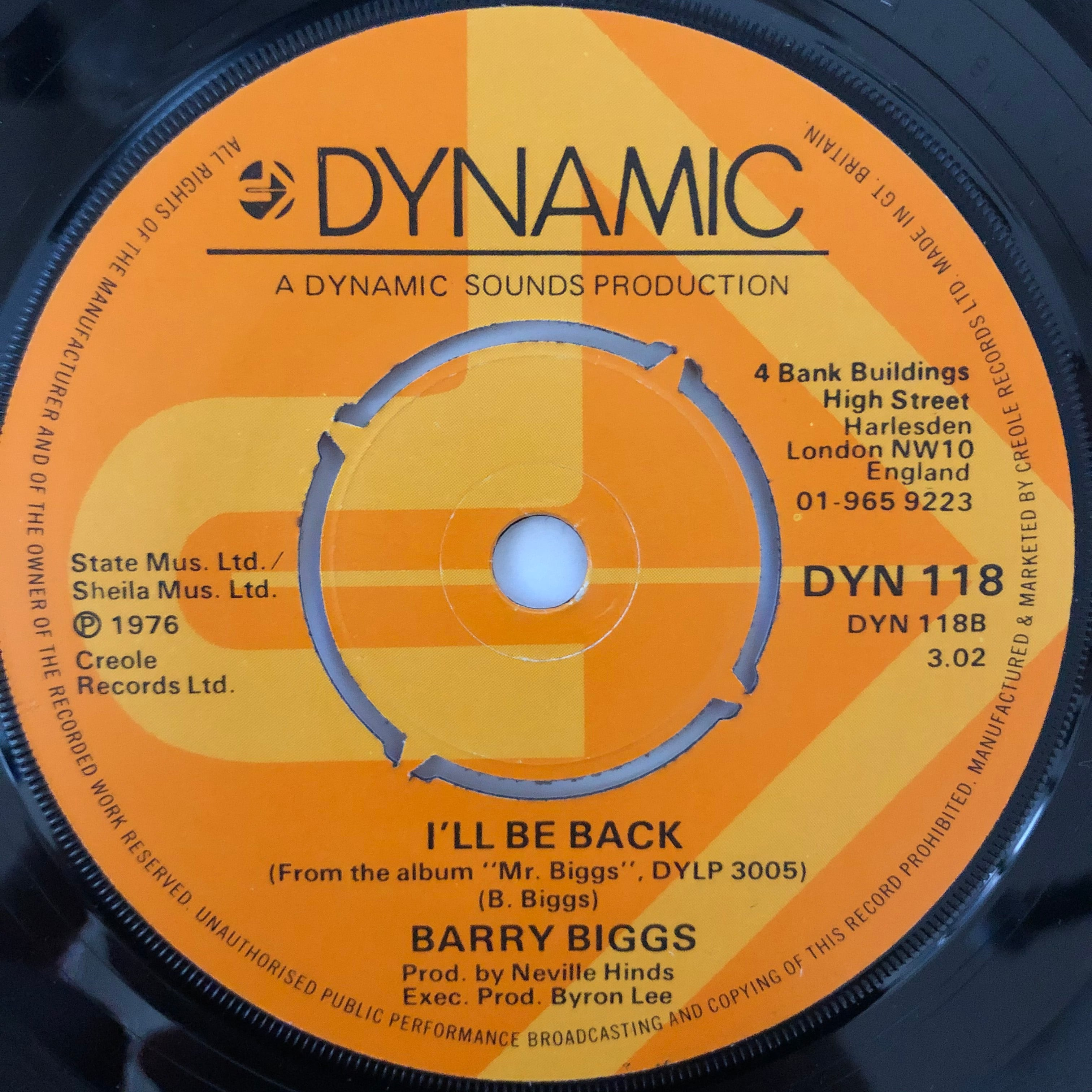 Barry Biggs - I'll Be Back【7-20618】