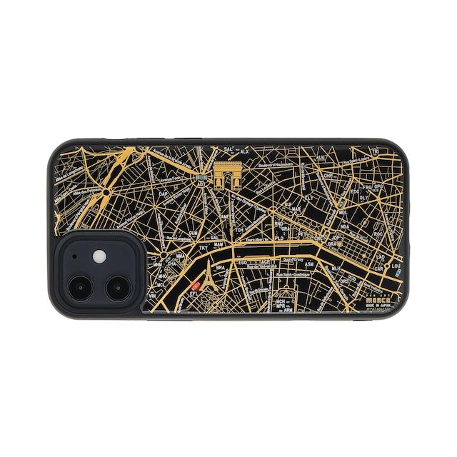 FLASH Paris回路地図 iPhone 12 mini ケース  黒【東京回路線図A5クリアファイルをプレゼント】