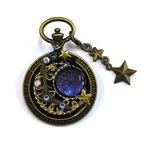 【ミズイロ】魔導石~月時計~/ブローチ