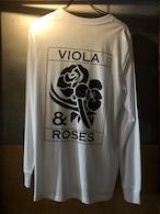 VIOLA&ROSES VR LONG T モノクロNO.02WT