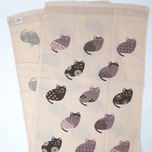 猫タオル手拭い(タオルてぬぐい)和柄猫