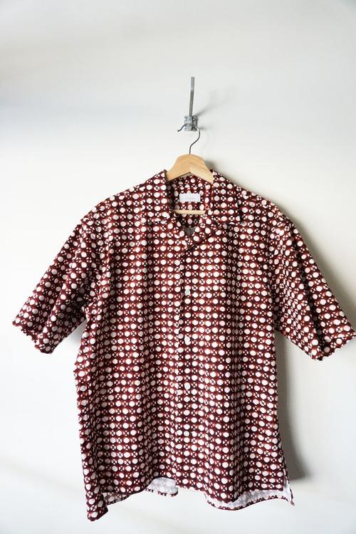 Cotton Mashrabiya Print Shirt [Brown ]