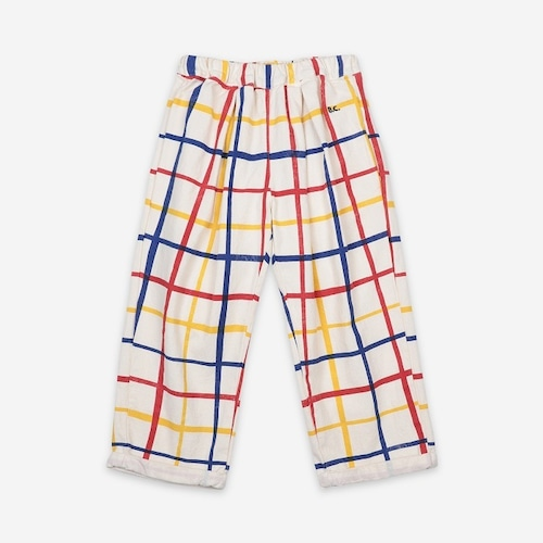 BOBOCHOSES Multicolor Checkered Baggy Trousers