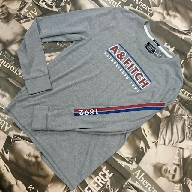 ☆セール品☆【さらに値下げしました!】Abercrombie&FitchメンズロングTシャツMサイズ