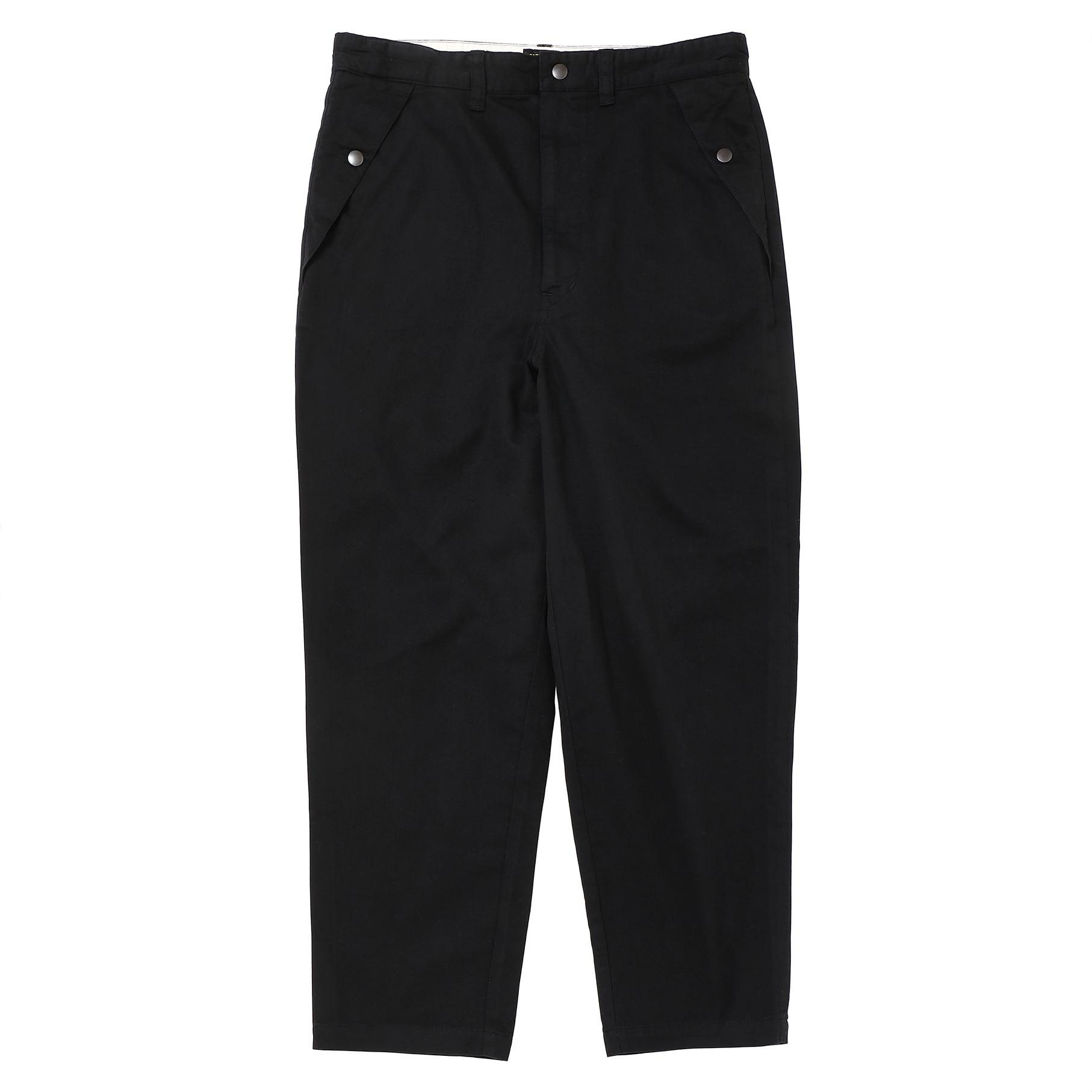 LOOSE FIT CHINO PANTS/BLACK
