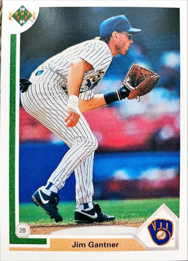 MLBカード 91UPPERDECK Jim Gantner #618 BREWERS