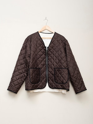 CAMIEL FORTGENS HAND QUILTED PADDED LINING JACKET Brown CF.12.09.10
