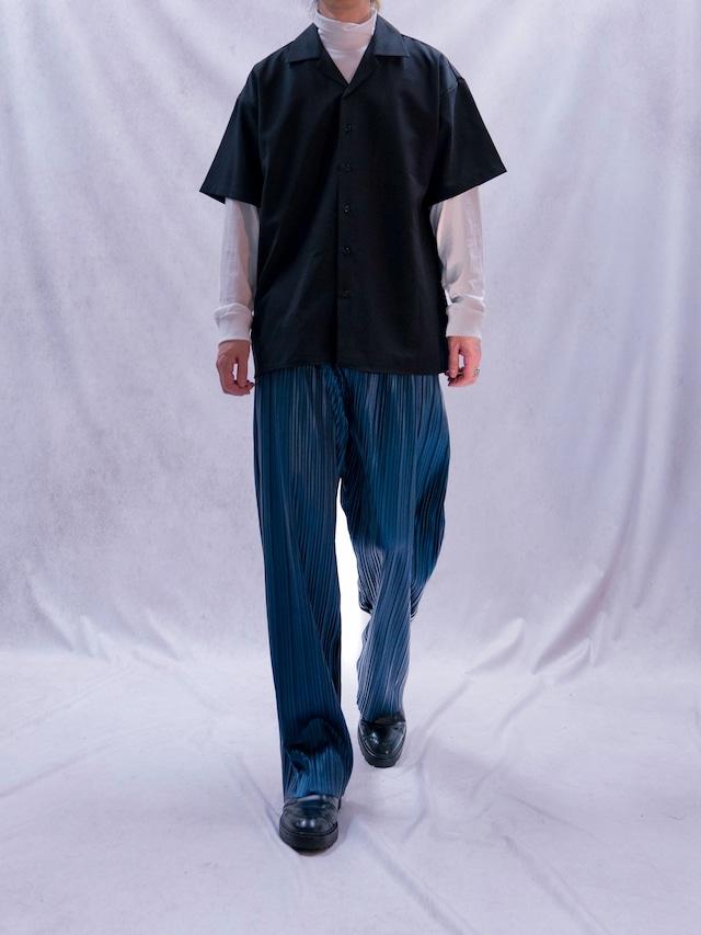 【UNISEX - 1 size】OPENCOLLAR SHORTSLEEVE SHIRT / 5colors
