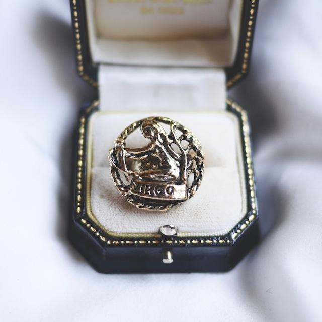 12星座  おとめ座 ヴァーゴ  ヴィンテージリング(指輪)