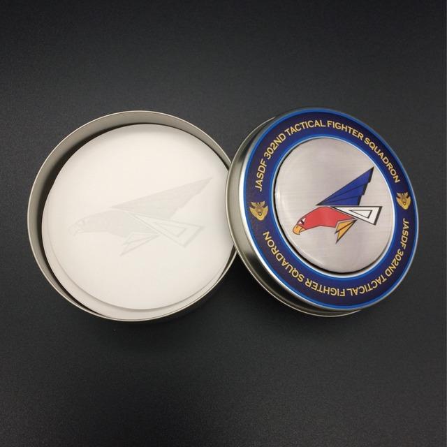 302飛行隊 缶マグネット付き メモ缶