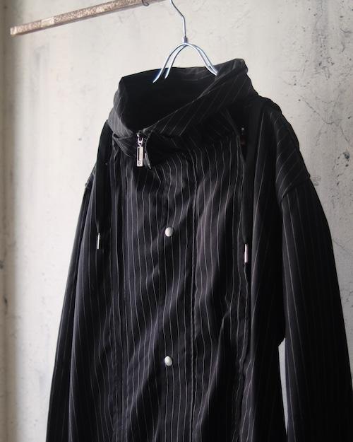 stripe hoodie light coat