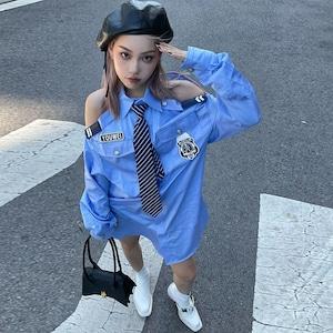 【トップス】制服設計感ありセクシーファッションシャツ50052149