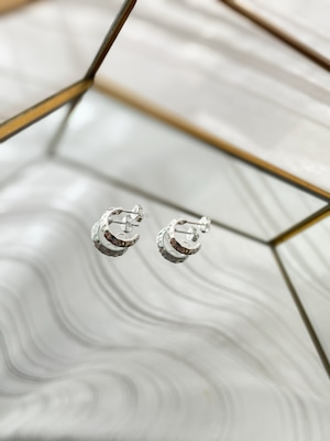 UCE-34 Hammer Finish Connect Earrings