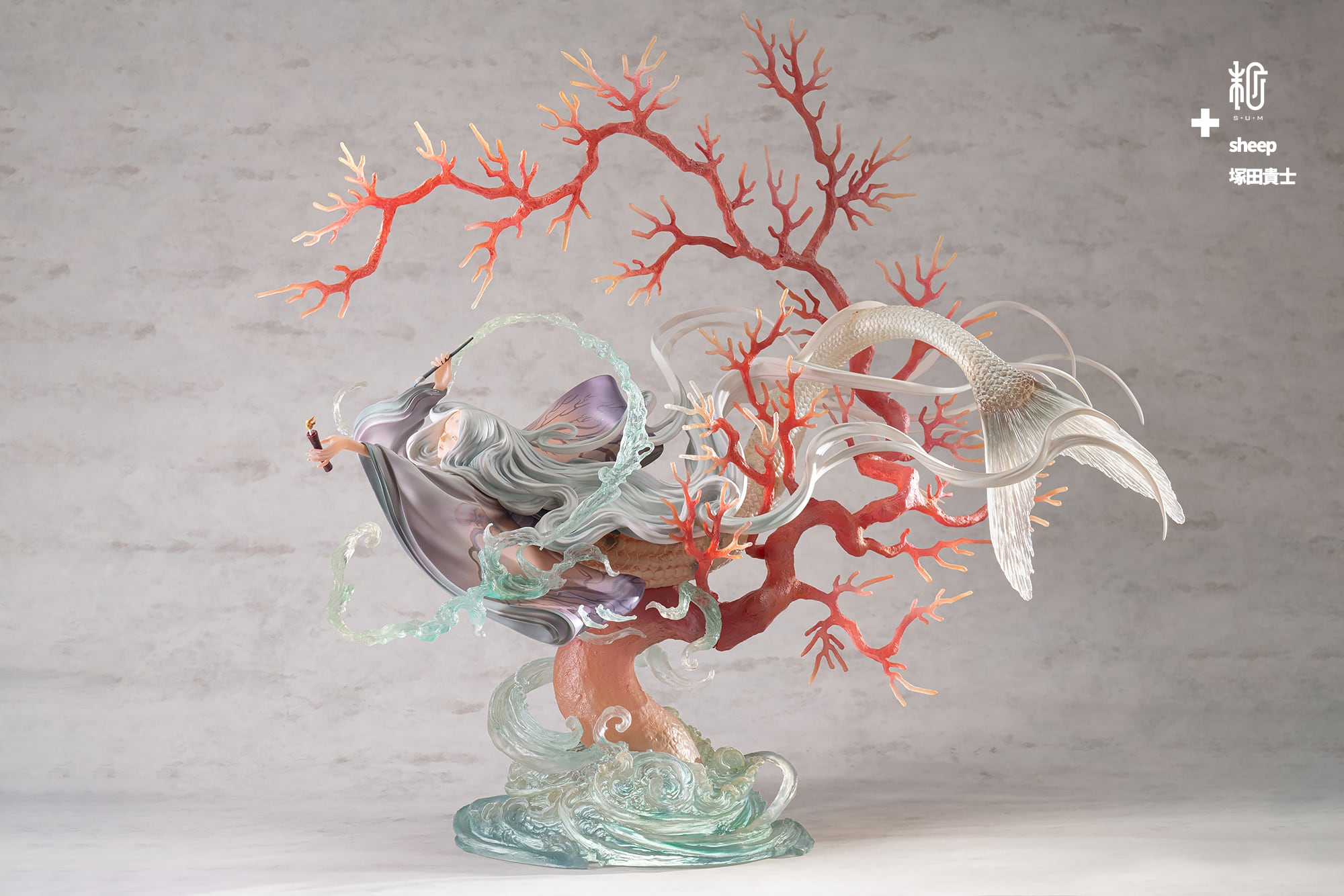 赤い蝋燭と人魚 赤珊瑚ver 100体限定|sheep×塚田貴士