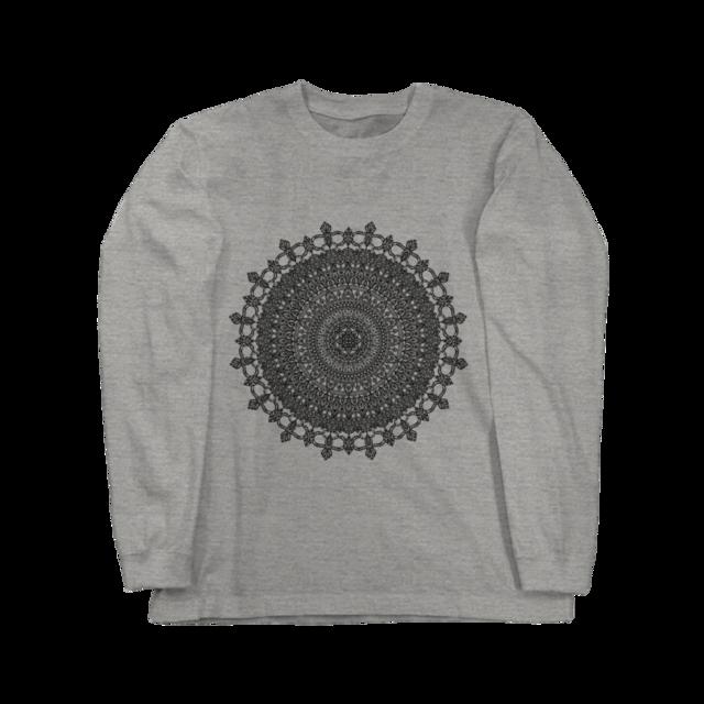 Mandala No.001 ロングスリーブ  グレー
