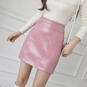 3色/定番フェイクレザースカート ・19501