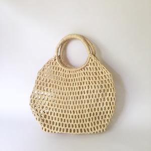 Madagascar Raffia Mesh Bag
