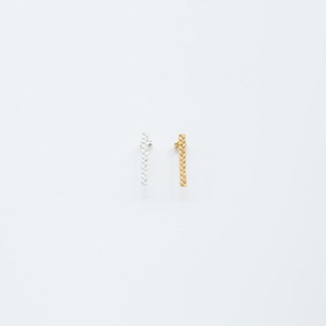 ciito (しいと) mitsuami pierce (ピアス) Sサイズ シルバー/ゴールド ※片耳販売