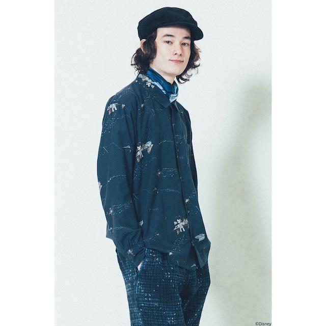 DISNEY MICKEY MOUSE / PORTER CLASSIC OHARIKO COLLECTION ALOHA LONG SLEEVE SHIRT
