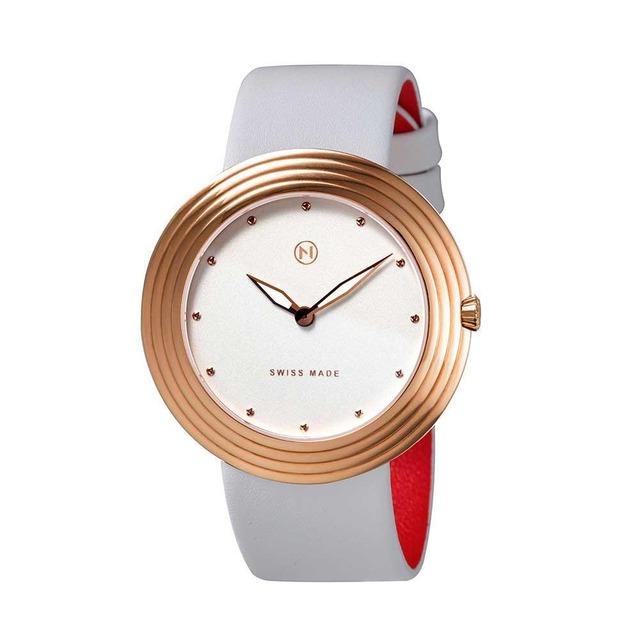 B007-01 Nove ストリームライナー スイス製 腕時計 Women  White Rose