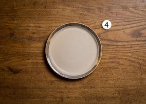 白マット・リムマンガン釉 6寸 プレート(リムプレート・中皿・18cm皿)/鈴木美佳子