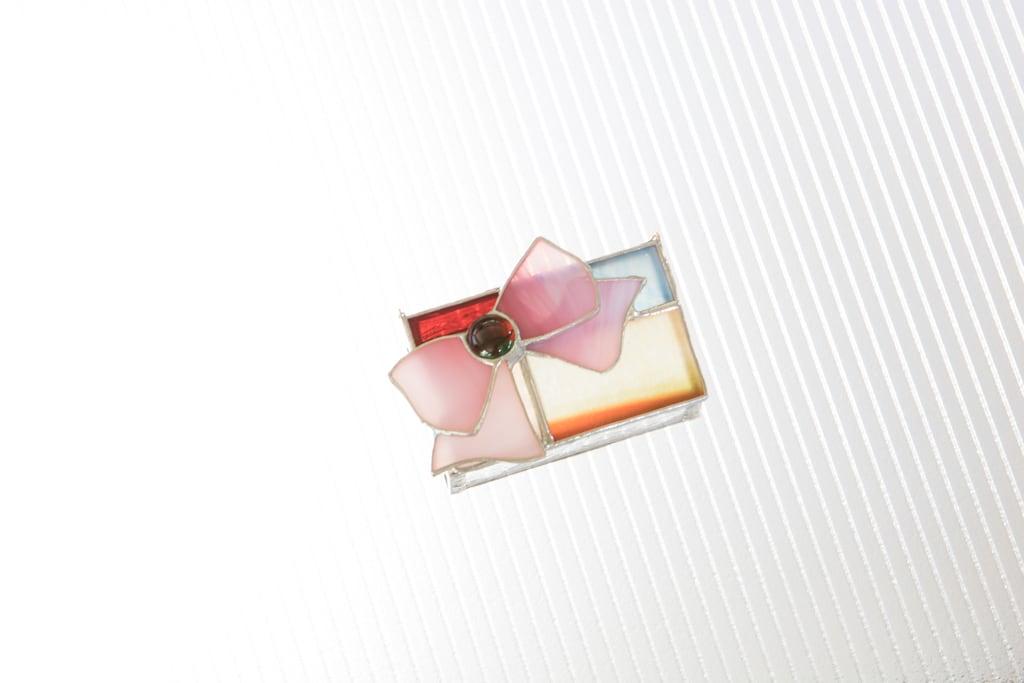 リボン(ステンドグラスのボックス) 02020010