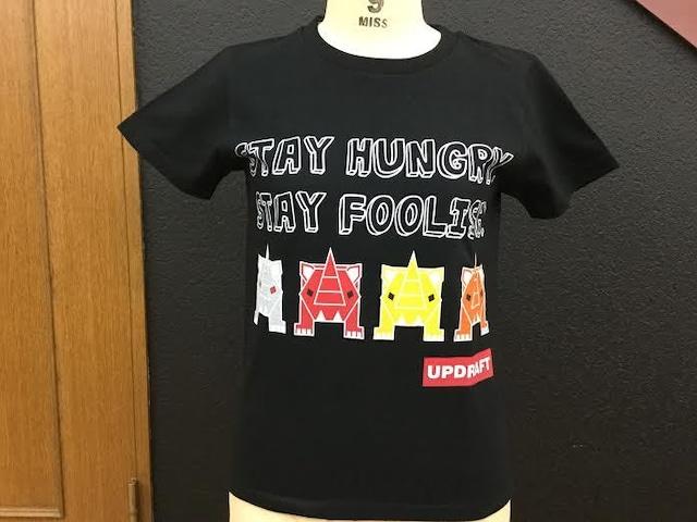 【ウィメンズ】オリジナルサイTシャツ ブラック(綿100%)