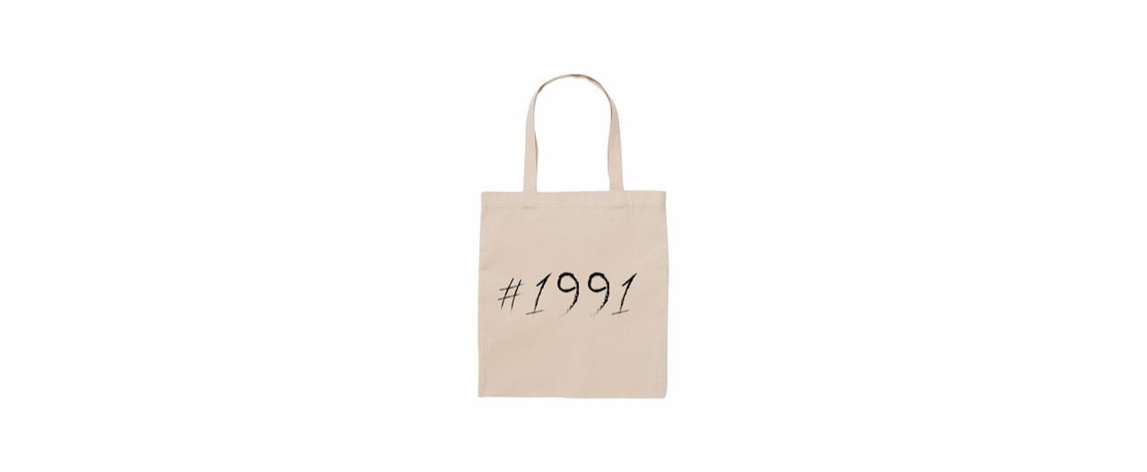 1991 big logo tote bag (NATU)