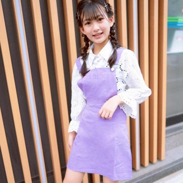 S~XL ★ サロペット スカート パステルカラー ガーリー