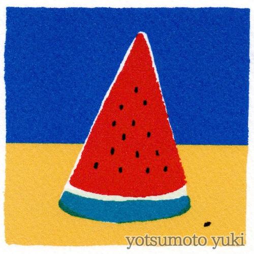 ポストカード - すいか(暑中見舞) - ヨツモトユキ - no9-yot-02