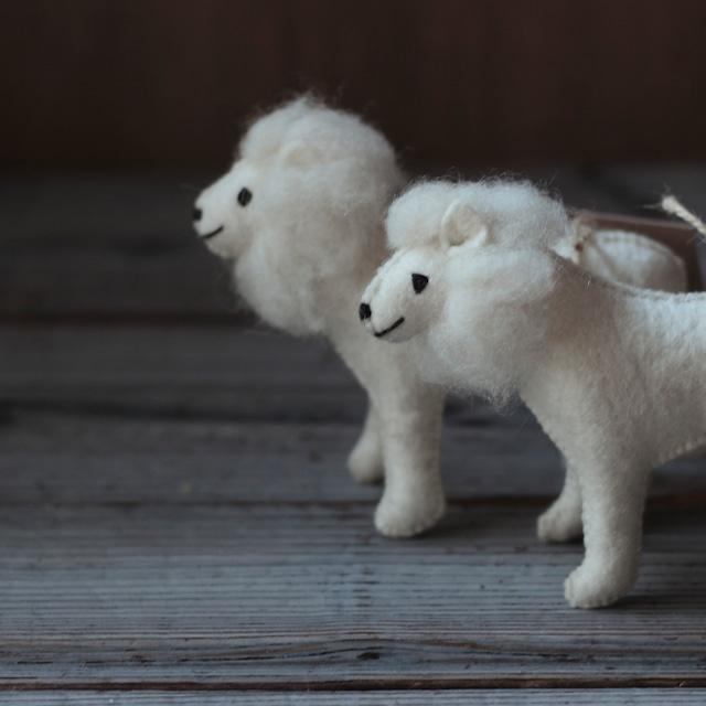 モンゴルの羊毛 ライオン