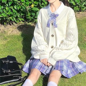 スクールカーディガン 女子 レディース コスチューム jk制服 女子高生服 大きいサイズ 1653