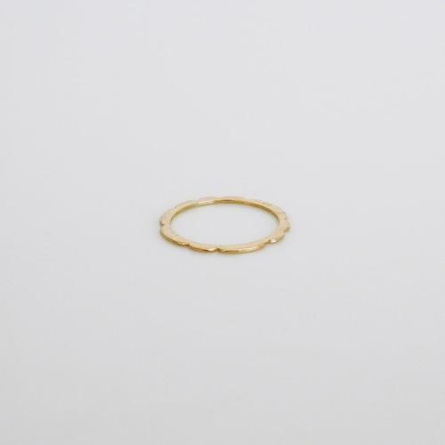凹 ring / k18gd