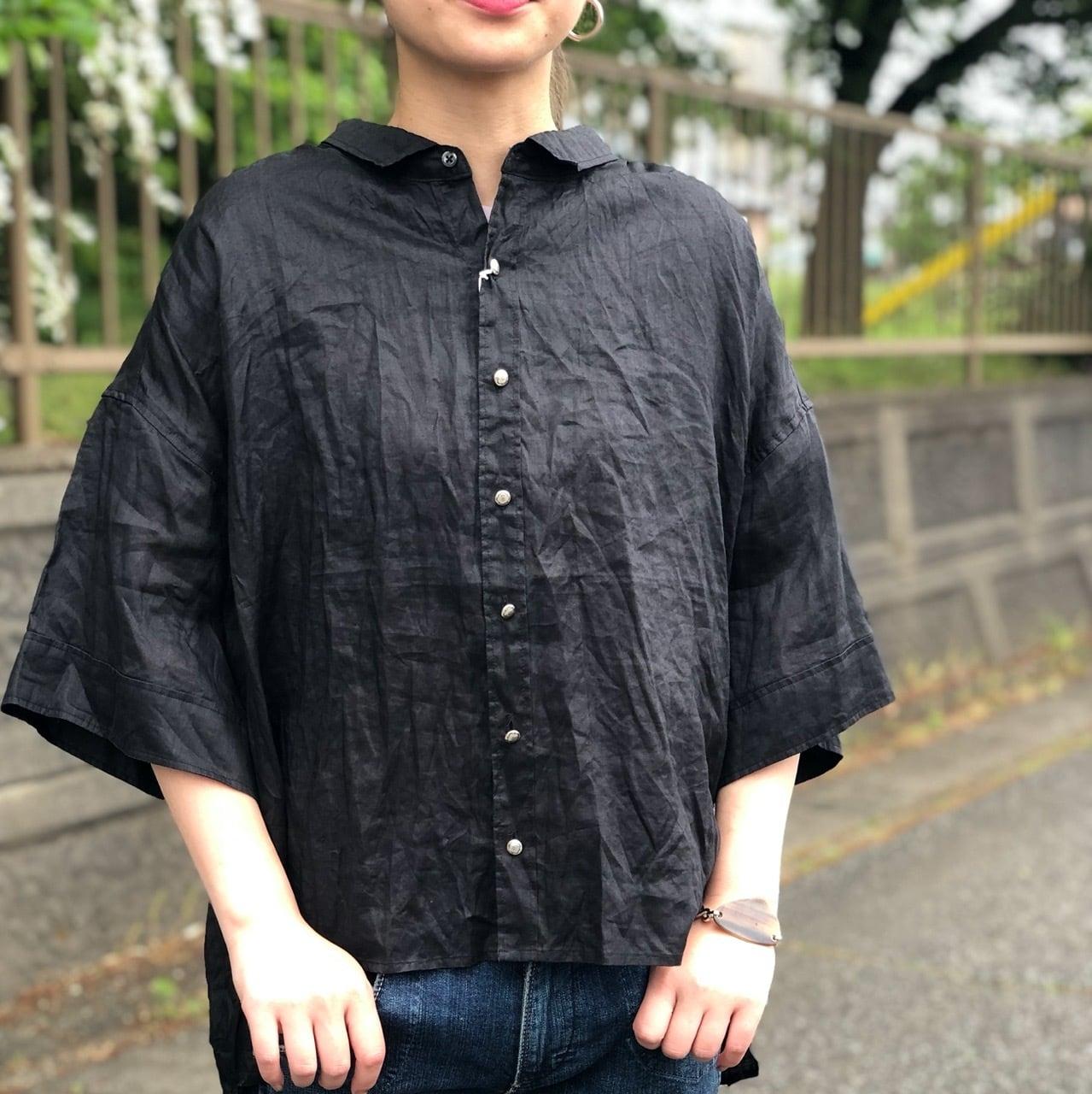 【 ANTGAUGE 】- GB253 - リネン六分丈シャツ