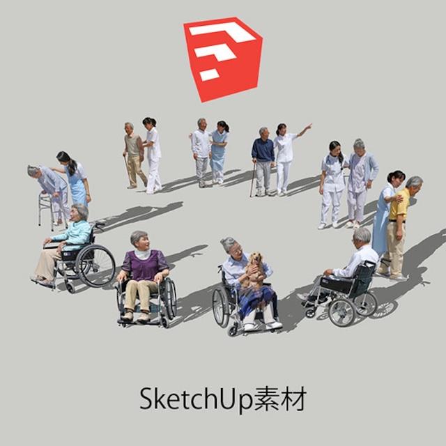 医療人物SketchUp素材10個 4p_set048 - メイン画像