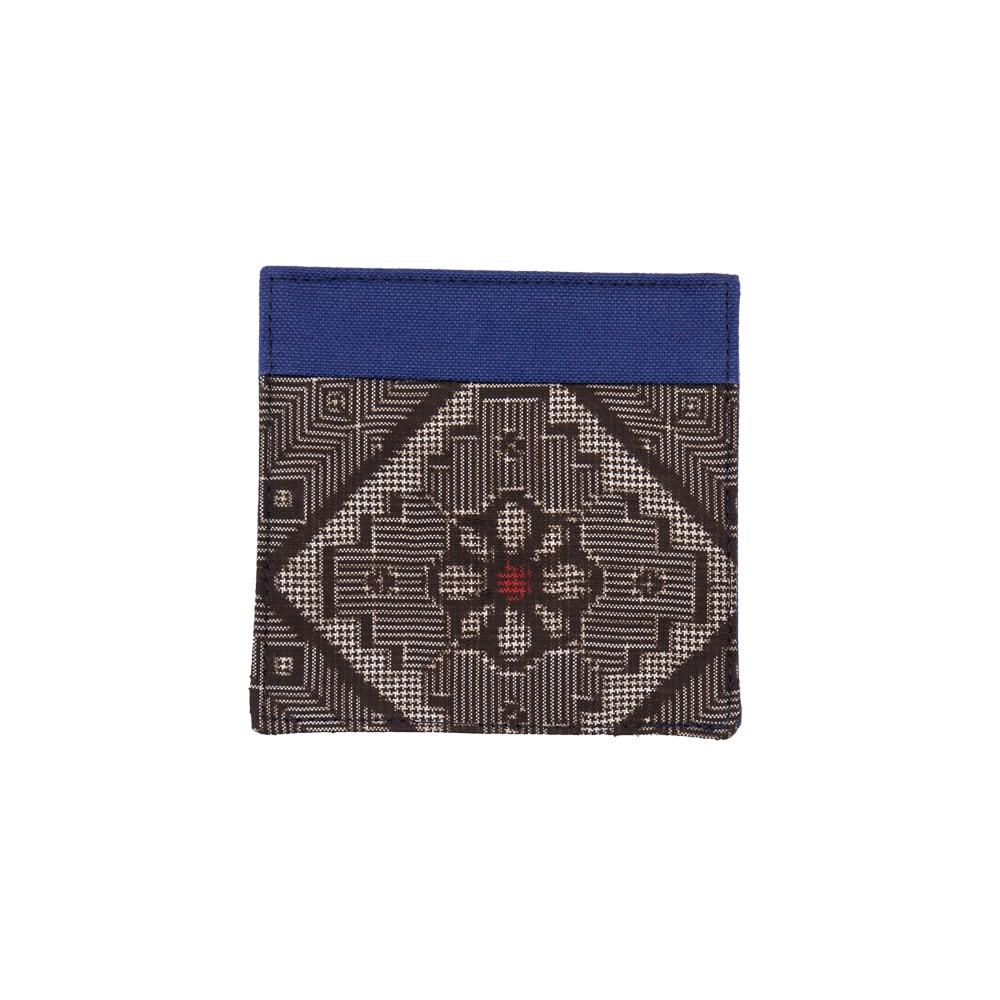 大島紬のコースター | 青色