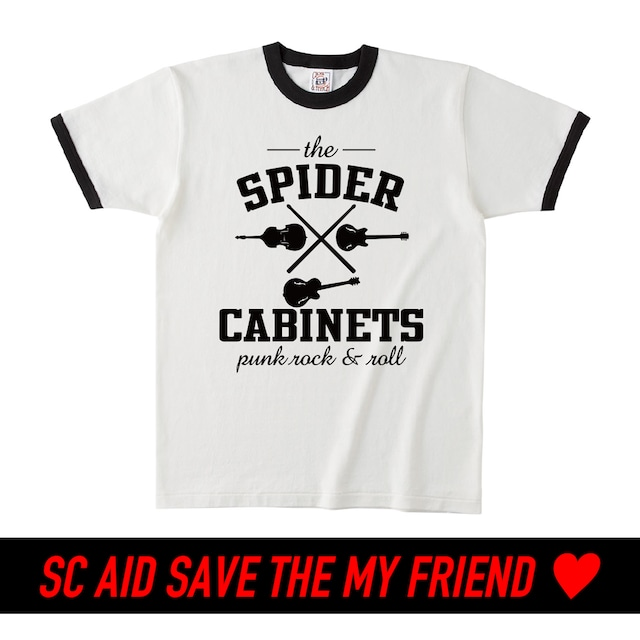 【WHITE】SC AID SAVE THE  MY FRIEND SPECIAL LIMITED T-SHIRTS:6月末頃お届け