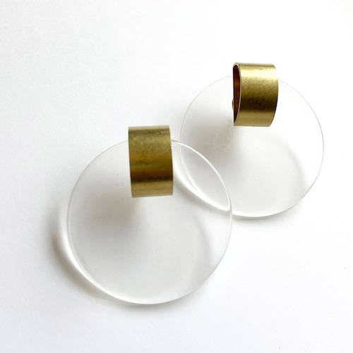 Moon plate earrings-L L-062